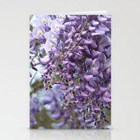 Spring Botanical -- Wisteria Lane, Boldly -- Floral Purple, Lavender and Orchid Landscape Stationery Cards