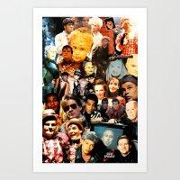 Red Dwarf Fan Collage Art Print