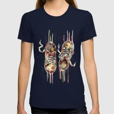Women's sneakers Womens Fitted Tee Navy SMALL