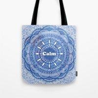 Calming Serenity Blue Ma… Tote Bag