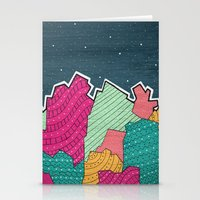 Coral  Stationery Cards