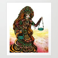 Astrology Illustration Series-Libra Art Print