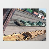 Laramie, WY Railroad Tracks Canvas Print