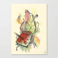 Sketchbook Life Canvas Print
