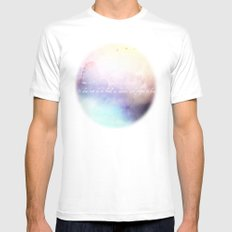 Dwell V1 SMALL White Mens Fitted Tee