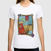 Dino Time  Womens Fitted Tee Ash Grey SMALL