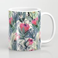 Painted Protea Pattern Mug