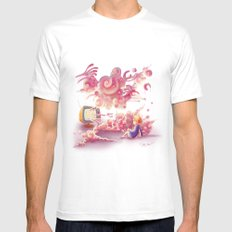 A strange television… SMALL White Mens Fitted Tee