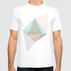 pentagonal dipyramid White Mens Fitted Tee SMALL