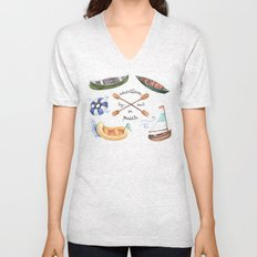 Adventures by Sail or Paddle Unisex V-Neck