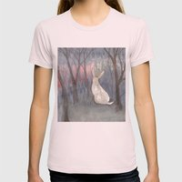 Forest Dawn Womens Fitted Tee Light Pink SMALL