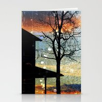 Winter Electric Stationery Cards