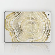 Laptop & iPad Skin featuring Gold Tree Rings by Cat Coquillette