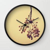 Autumn life (IV) Wall Clock