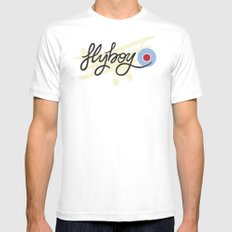 flyboy Mens Fitted Tee White SMALL