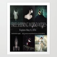 Free shipping until May 8--Spoken in Red Art Print