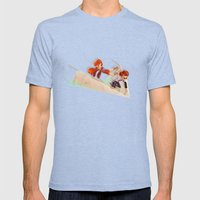 Flying Around Mens Fitted Tee Tri-Blue SMALL