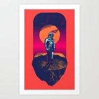 Awakening In A Strange L… Art Print
