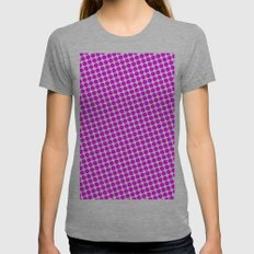 BIG PINK DOT Womens Fitted Tee Athletic Grey SMALL
