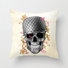 Skull Soldier Throw Pillow