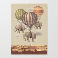 Flight Of The Elephants  Canvas Print