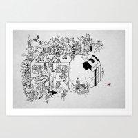 japan Art Prints featuring Japan by Đức Lương