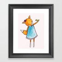 Little Birdie Secret  Framed Art Print
