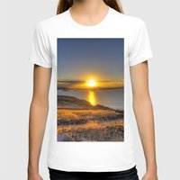 A Titicaca Sunset Womens Fitted Tee White SMALL