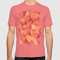 Meduzzle: Blond Mens Fitted Tee Pomegranate SMALL
