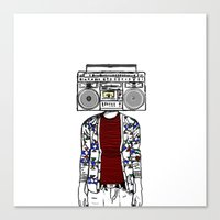 Radio daze Canvas Print