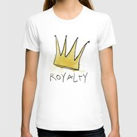 Royalty Womens Fitted Tee White SMALL