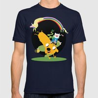 Adventure time Mens Fitted Tee Navy SMALL