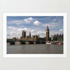 Houses of Parliament, London, UK Art Print