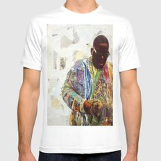 Biggie Mens Fitted Tee White SMALL