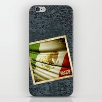 STICKER OF MEXICO flag iPhone & iPod Skin