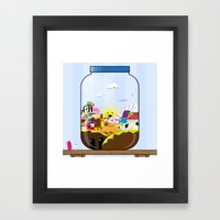 SF Sweet Jar Framed Art Print