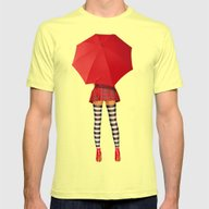 Sunny Outlook Mens Fitted Tee Lemon SMALL