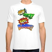 Comic Sounds Mens Fitted Tee White SMALL