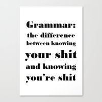 Grammar: The Difference … Canvas Print
