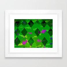Argyle Frenzy in Emerald  Framed Art Print