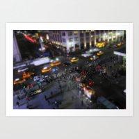 New York City Street Min… Art Print