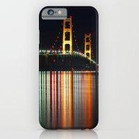 iPhone & iPod Case featuring Mackinac Bridge at Night by Craig Sterken