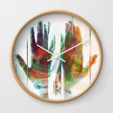 painter's hands Wall Clock