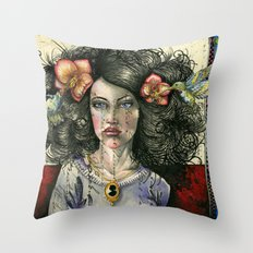 She Had Hummingbirds in Her Hair Throw Pillow