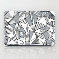 Abstract Lines With Grey Blocks iPad Case