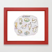 Cat Activities Framed Art Print