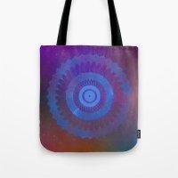 Technicolor Cosmos Blue Tote Bag