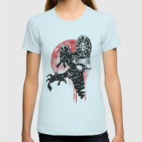 A Film By The Mummy Womens Fitted Tee Light Blue SMALL
