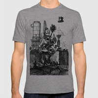 The Rival  Mens Fitted Tee Tri-Grey SMALL