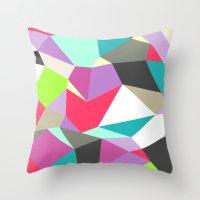 Geomesh 02 Throw Pillow